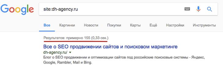 Директория site в google