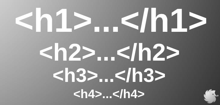 HTML теги h1, h2, h3, h4